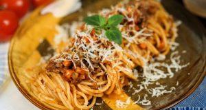 طرز تهیه اسپاگتی با سس بلونز
