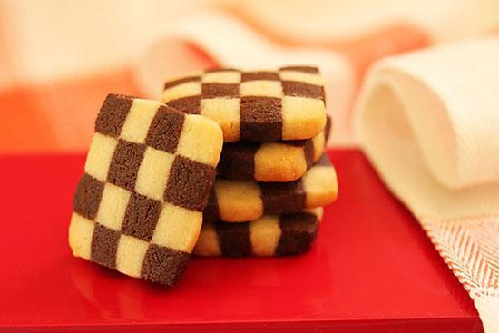 طرز تهیه کوکی شطرنجی