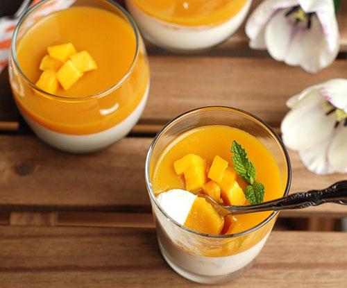طرز تهیه پاناکوتای ژله نارنگی و انبه