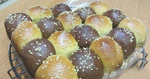 طرز تهیه نان دورنگ