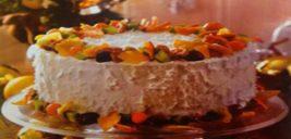 کیک شیفون پرتقالی با میوههای خشک