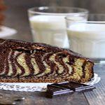کیک دورنگ خوشمزه برای یک عصرانه بهاری