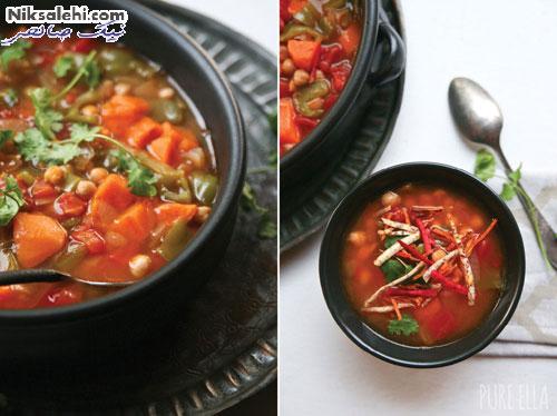 خورش نخود و سبزیجات مراکشی