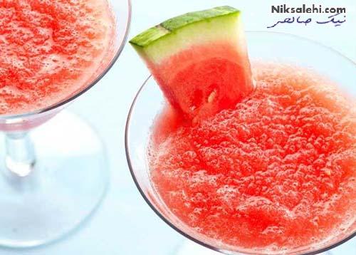 نوشیدنی های تابستانه با هندوانه