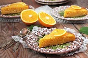 طرز تهیه کیک پرتقال عسلی با مواد کاملا سالم