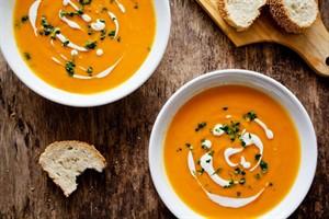 شامی سبک با سوپ هویج و سیب زمینی