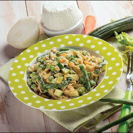 ماکارونی رژیمی با سبزیجات