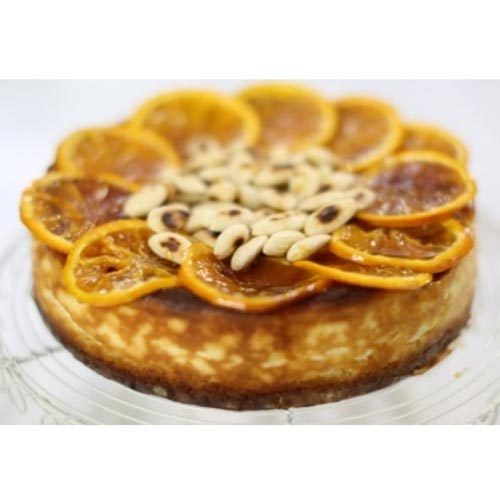 چیزکیک پرتقالی و بادام دسری خوشمزه برای مهمانی های پاییزی
