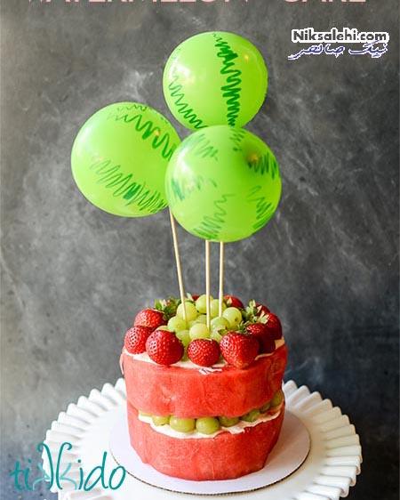 کیک میوه هندوانه