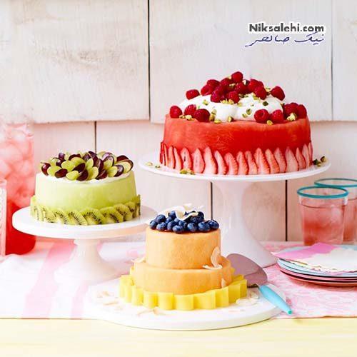 ایده های کیک هندوانه و طالبی برای شب یلدا + تصاویر