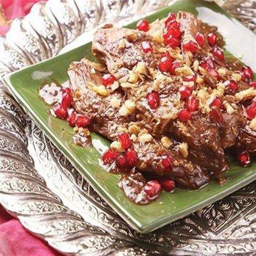 خوراک انار و بادمجان غذایی لذیذ ویژه شب یلدا