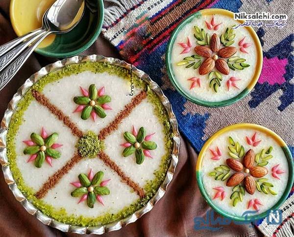 تزیین شیر برنج با عکس
