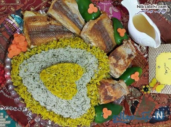 تزیین برنج با زعفران عکس