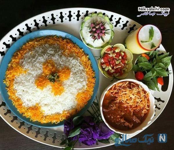 تزیین زیبای برنج ساده با زعفران