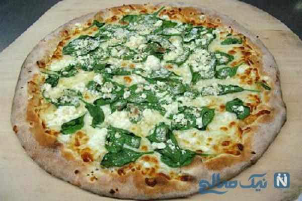 پیتزای پیتزا اسفناج و قارچ تابستانی
