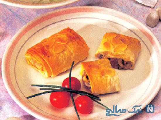 لذت یک غذای خوشمزه با ترکیب میگو و قارچ +عکس