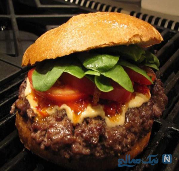 همبرگر خانگی