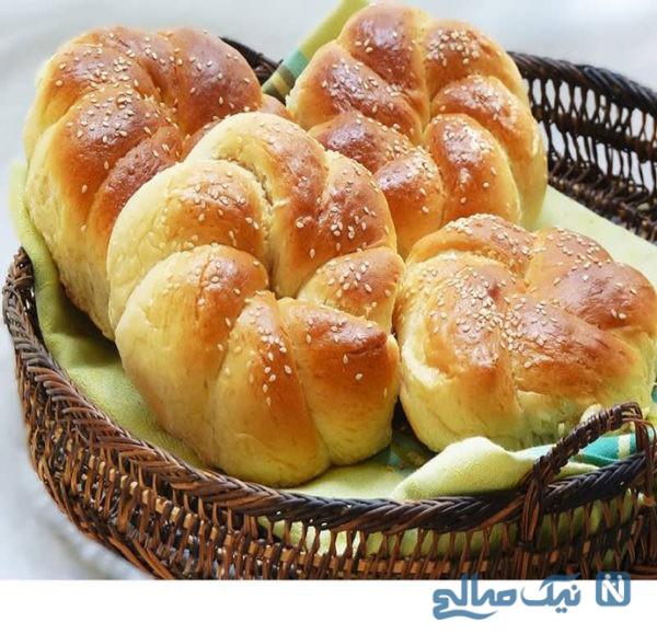 نان شیرمال خانگی ساده