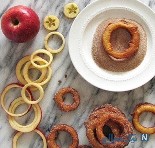 حلقه سیب و دارچین