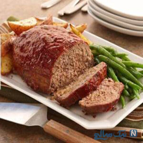 رولت گوشت چرخ کرده