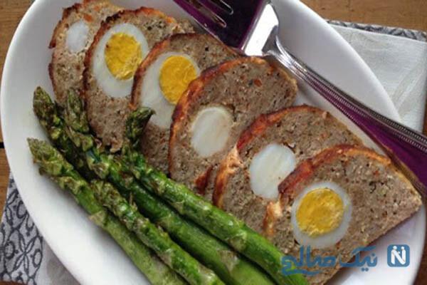 رولت گوشت چرخ کرده غذایی برای با سلیقه ها