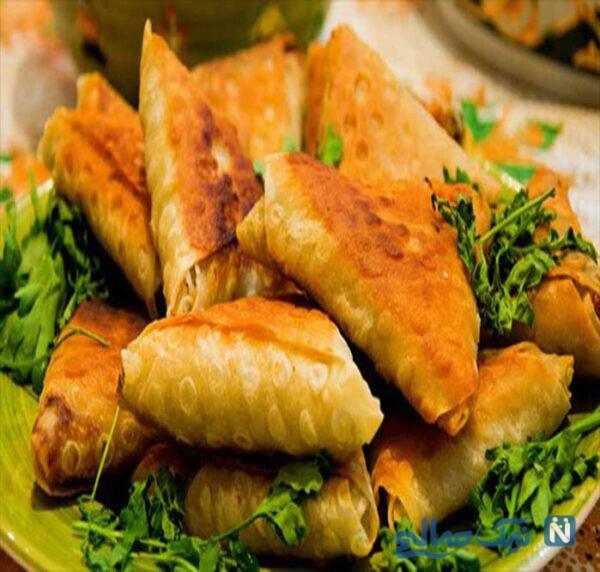 سمبوسه سبزیجات