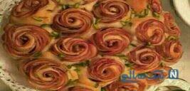لازانیای فوق العاده شیک به شکل گل سرخ!