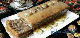 کیک موز و گردو فوری و خوشمزه