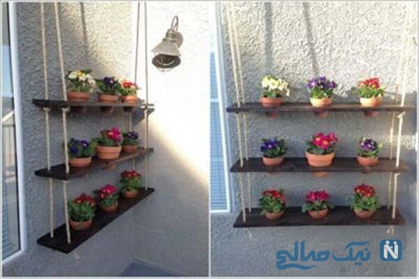 ایده هایی زیبا برای جا گلدانی
