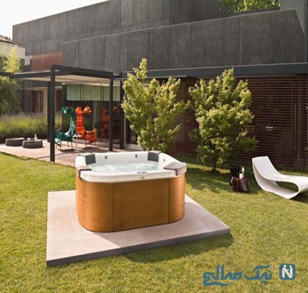 طراحی جکوزی در حیاط خانه