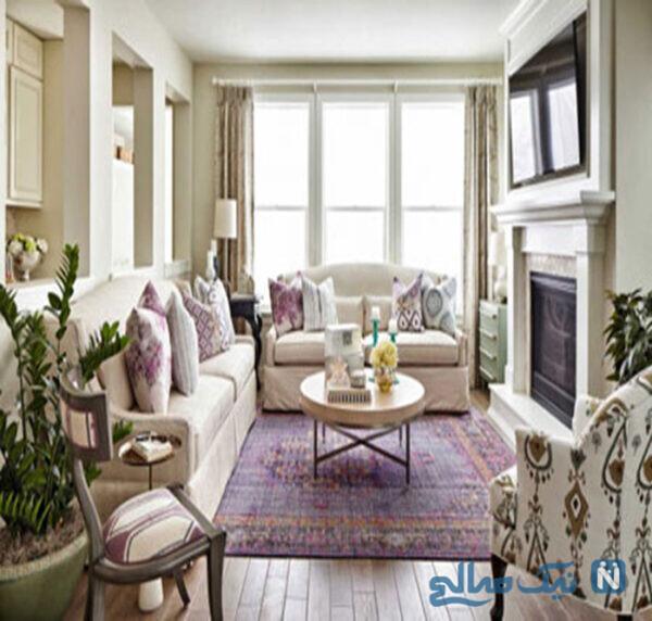 ترکیب های رنگی دکوراسیون منزل در مبل و فرش و پرده