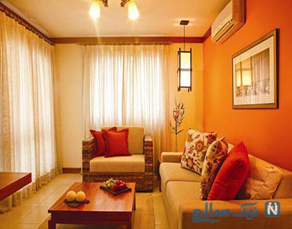 دکوراسیون منزل با رنگ نارنجی