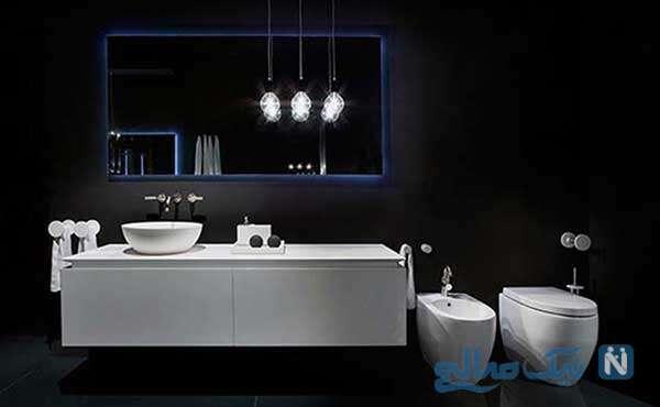 حمام های مدرن و سرویس بهداشتی شیک