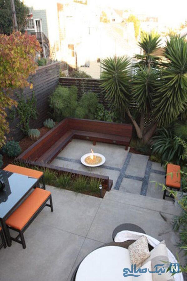 طراحی باغچه در حیاط کوچک خانه
