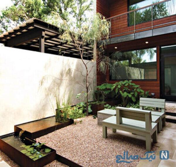 طراحی باغچه در حیاط کوچک