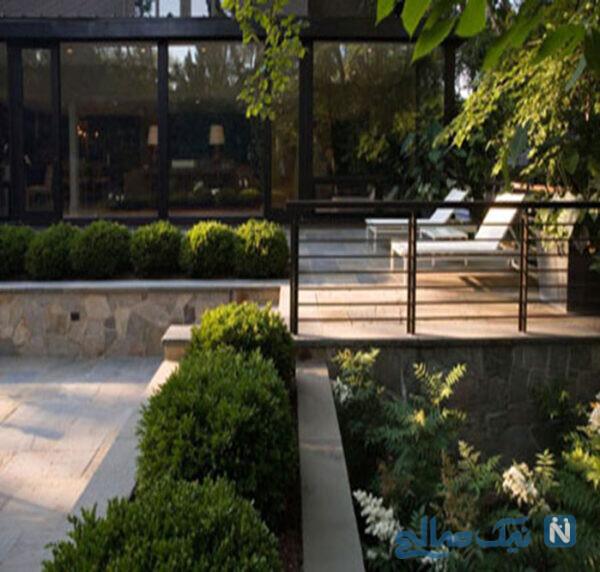 طراحی باغچه در حیاط خانه