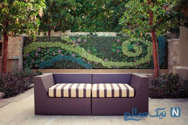 دکوراسیون و طراحی باغچه در حیاط کوچک خانه