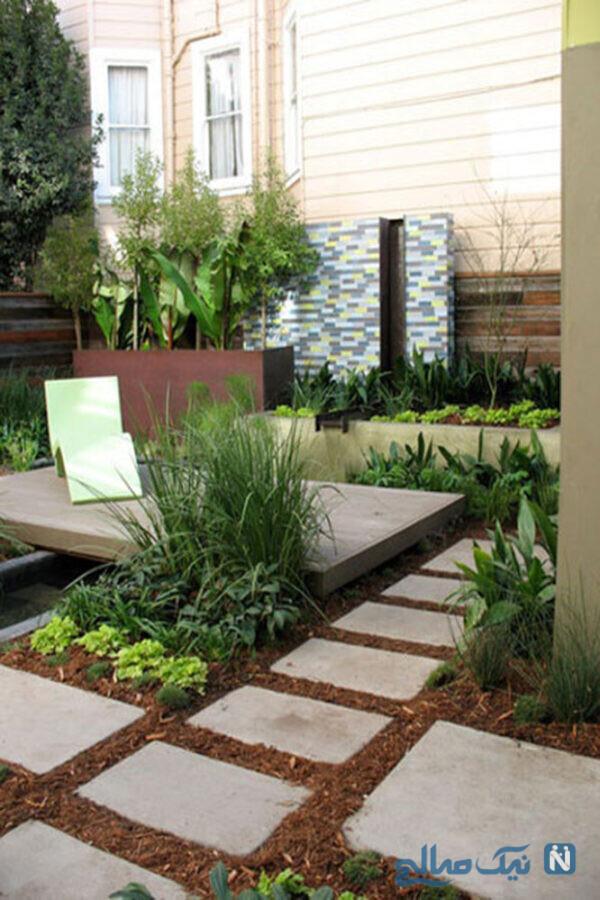 باغچه در حیاط کوچک خانه
