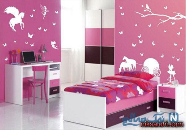 زیباترین دکوراسیون اتاق خواب دخترانه