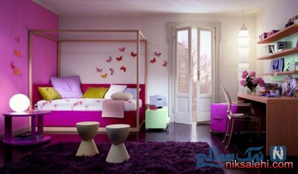 دکوراسیون اتاق خواب دخترانه نوجوان