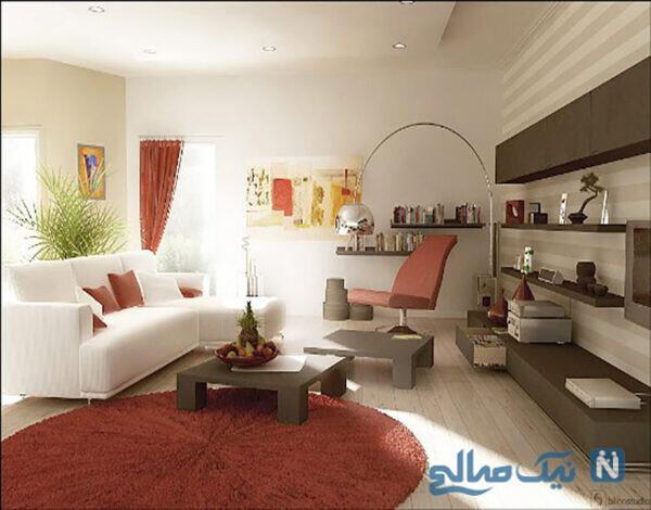 زیباترین دکوراسیون داخلی منزل با تم قرمز