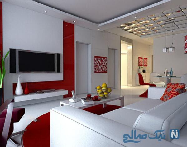 دکوراسیون داخلی منزل به رنگ قرمز