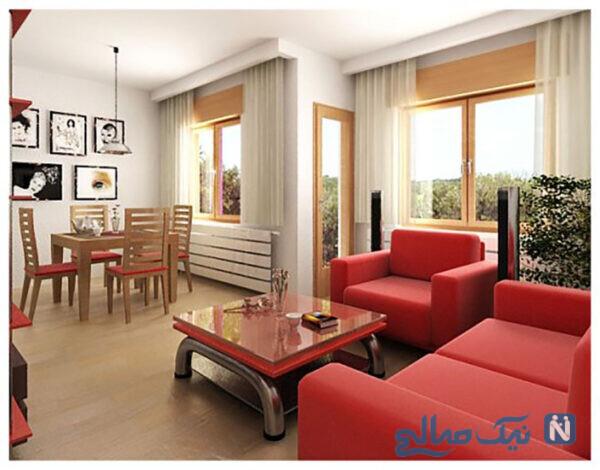 استفاده از رنگ قرمز در دکوراسیون داخلی منزل