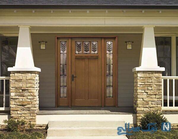 طراحی درهای چوبی و مدل های درب ورودی خانه
