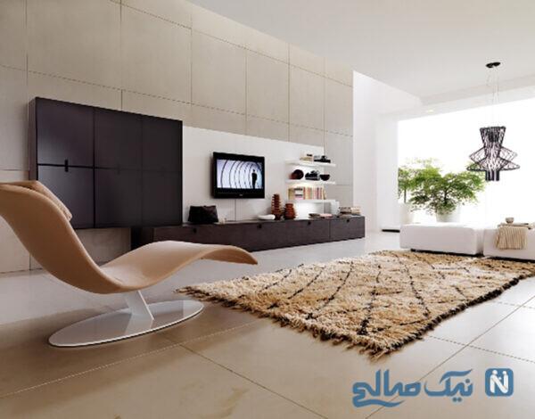 طرح بسیار زیبای میز تلویزیون