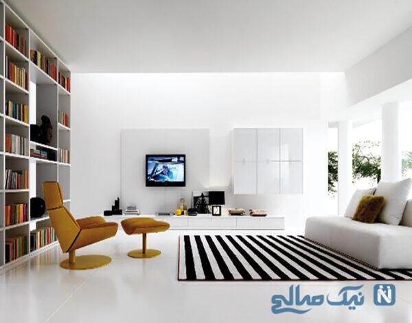 میز دیواری ساده برای تلویزیونهای ال ای دی