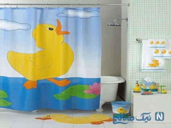 مدل پرده های حمام بچه گانه