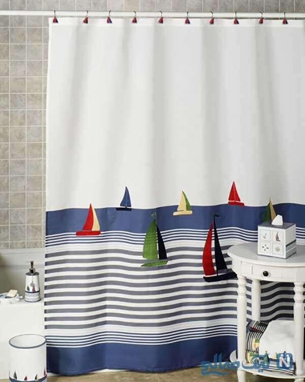 طراحی پرده های حمام بچه گانه