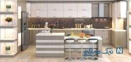چیدمان و دکوراسیون آشپزخانه های سفید