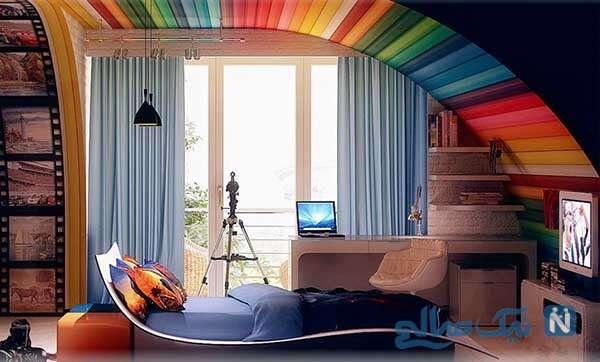 اتاق کودک رویایی با ایده های رنگارنگ
